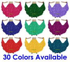 Satin 4 Tiered Gypsy Skirt Belly Dance Jupe Oriental 25 Yd Flamenco Frill Ruffle