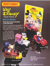 """Matchbox Werbeblatt für die Matchbox """"Disney"""" Serie 1980"""