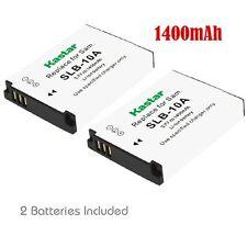 SLB-10A Battery& LCD USB Charger for Samsung WB2100 ES50 ES55 ES60 EX2F HMX-U10