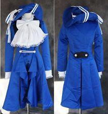 a-123 S/M/L/XL/XXL BLACK BUTLER Kuroshitsuji CIEL COSPLAY Anzug blau Set costume