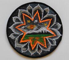Parche Para Coser Nepalí hecha 8cm Lotus MONTAÑA - Rojo Púrpura Gris