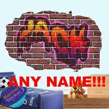 Multi Couleur Personnalisé Graffiti Nom Autocollants Muraux Art Enfants Chambre Mural Decal