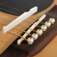 Fresh Buffalo Bone Bridge Saddle And Slotted Nut For 6 String Acoustic Guitar TS