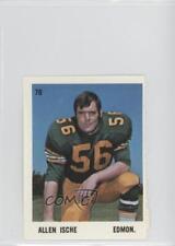 1971 O-Pee-Chee CFL Players Photos Stamps #70 Allen Ische Edmonton Eskimos (CFL)