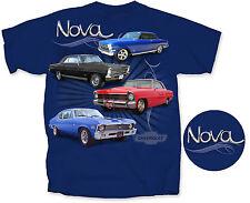 Chevrolet Nova 1962 1966 1967 1972 SS Chevy II~ Men's T-Shirt ~ Metro Blue