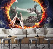 3D Dinosaurs Age Volcano 709 Wallpaper Decal Dercor Home Kids Nursery Mural Home