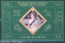 GIBRALTAR 2012 QUEEN ELIZABETH II DIAMOND JUBILEE 1952-2012 SOUVENIR SHEET