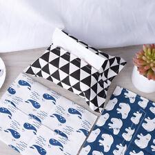 Cotton and Linen Tissue Box Napkin Holder Portable Pouch Paper Cloth Bag Bo Sl