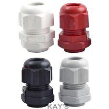 M20x1.5 nylon/plastic Impermeable Cable glándulas Completo Con Bloqueo De Tuerca Ip68