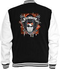 Biker Sweat College Jacke Made in USA 2 Motorcycle Adler Eagle V8