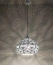 B272 Tin Mosaic Moroccan Filigrain Color Cheerful Lampshade Hanging Lamp