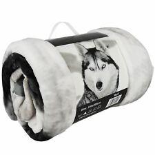 Snow Wolf Luxury 3D Faux Fur Sofa Bed Throw Blanket Animal Pattern Throws 2019