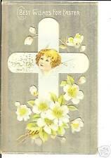 Beautiful Easter Angel Child Cross Postcard