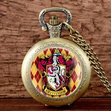 Vintage Harry Potter Gryffindor Theme Pocket Quartz Watch Retro Necklace Pendant