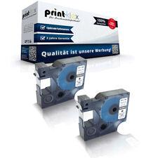 2x Kompatibel Schriftbänder für Dymo 45013 Beschriftungsband -Drucker Pro Serie