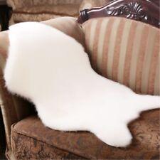 US Soft Fluffy Sheepskin Mat Sofa Bedroom Rug Floor Carpet Blanket Decor GB