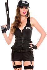 Music legs womens police swat romper costume