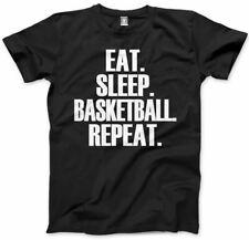 Comer dormir Baloncesto repetir Childrens Jugador Regalo Todos Los Colores Tee Kids Camiseta