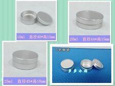 30 Aluminum Jars Lip Balm Pots 5ml 10ml 20ml 25ml Cosmetic Container Silver Tins