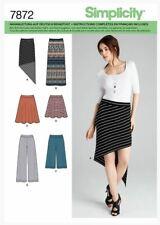 Schnittmuster Simplicity Nr. 7872 Röcke und Hosen in verschiedenen Längen