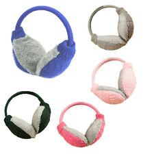 AU Lady Girls Knitted Fluffy Faux Fur Earmuffs Winter Headband Plush Ear Warmers