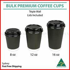 Disposable Coffee Cups 8oz 12oz 16oz Takeaway Paper Triple Wall Take Away Bulk