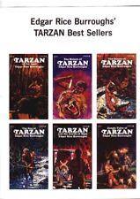 11 x 17  poster of Edgar Rice Burroughs Tarzan Ballantine books circa 1970s