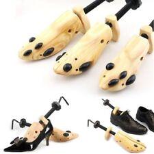 Mens Ladies 2-Way Shoe Stretcher Adjustable Width Wooden Metal Shoes Boot Shaper