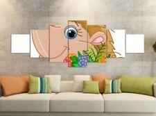 Leinwandbilder 7 Tlg 280x100cm Igel Blume lila bunt Leinwand Bild Teile 9YB1641