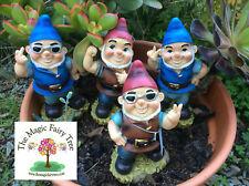 Naughty wobble gnomes - cheeky, biker, rude, funny adult joke gnome, garden