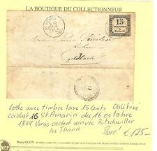 LETTRE ALSACE 66 St. AMARIN 1869 TAXE 15 Cents RARE