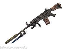 COLLECTORS 5 PIECE GUNMETAL GREY METALLIC HK416 REPLICA ASSAULT RIFLE KEYRING