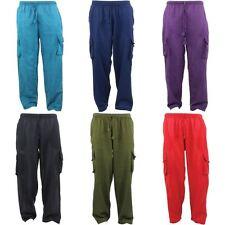 Nepalés de Algodón Pantalones Pantalones Llano Gringo Suelto Luz Hippy elástico de carga
