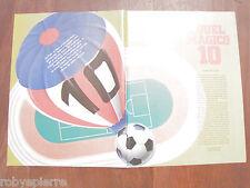 Articolo ritaglio A4 calcio giocatori con il magico 10 sulla maglia ALVISE GORI