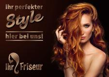 """Aufkleber / Plakat / Poster Friseur """"IHR STYLE"""" Werbung versch. Din-Formate"""