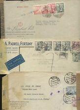 SPAIN WW2 MILITARY + CIVILIAN CENSORS MULTI FRANKINGS ADVERT ENVS...3 COVERS