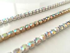 À Partir De Crystal Diamante Diamond Rhinestone Chain Trim Lace Ribbon for Fête Cloth