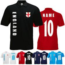 WM 2018 England Polo-Shirt Trikot Name Nummer