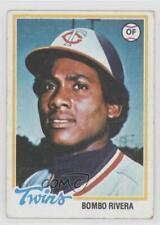 1978 Topps #657 Bombo Rivera Minnesota Twins Baseball Card