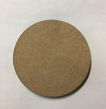 4,6,12 MDF Legno Rotondo Sottobicchieri in Bianco Taglio Laser 3mm spessore Bevanda Stuoie