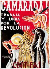 Década de 1930 Guerra Civil española comunista cartel A3/A2/A1 impresión