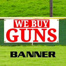 We Buy Guns Weapons Bullets Hand Gun Rifles Shotguns Banner Sign