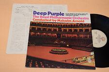 DEEP PURPLE LP WITH ROYAL PHILARMONIC ORCHESTRA ORIG JAPAN +INSERTO AUDIOFILI NM