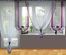 AG26 A rideau prêt à poser en voile balcon set Rideau marron blanc violet balcon