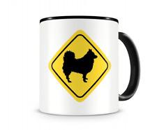 Deutscher Spitz Warnschild Hunde Tasse Kaffeetasse Teetasse Kaffeepott
