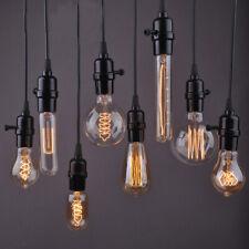 Vintage Edison Bulb 110V E26 40W 60W Incandescent Light Retro Lamp Holder Socket