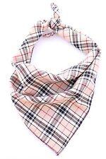 Beige Burberry Plaid Dog Bandana/Collar 100% Cotton Handmade