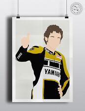 VALENTINO ROSSI - MotoGP  Minimalist Sport Poster Modern Wall art Posteritty