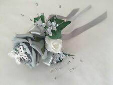 Flores De Boda Marfil Rosa Ramo Bridesmaids Flor Niña Gris Rojo Púrpura Azul