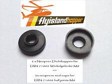 2 x joints/Néoprène dense capuchon pour m8 rotule/angle articulaires DIN 71802